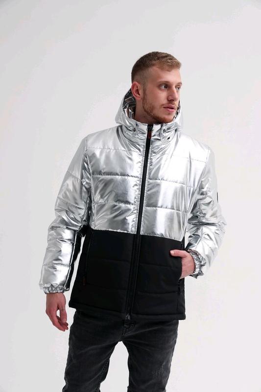 Зимняя мужская куртка блеск