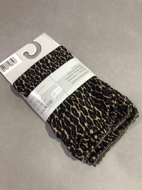 Носочки леопардовые 80 den. - Фото 2