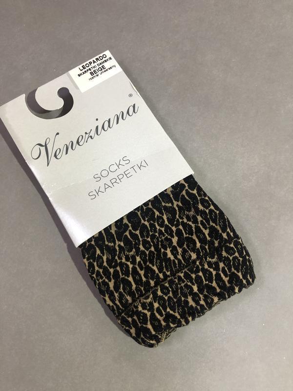 Носочки леопардовые 80 den. - Фото 3