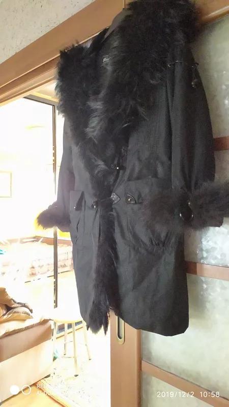 Пальто.Мех натуральный.Подкладка-кролик. - Фото 5