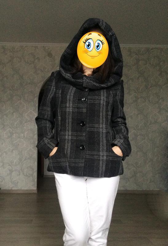 Новое деми пальто с большим капюшоном от phildar (франция)