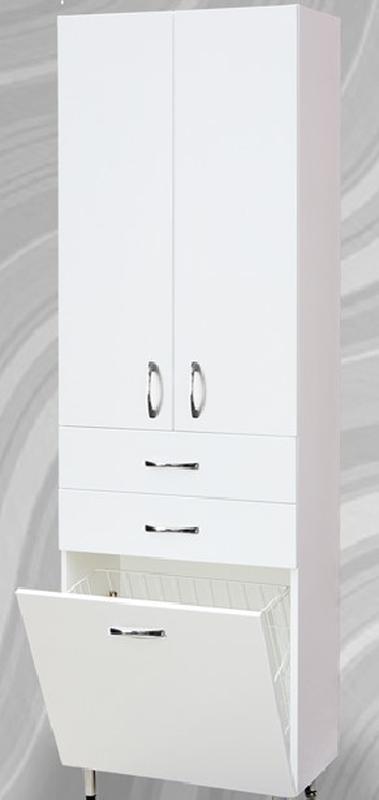 Пенал ванную комнату с корзиной для белья 60 см - Фото 2