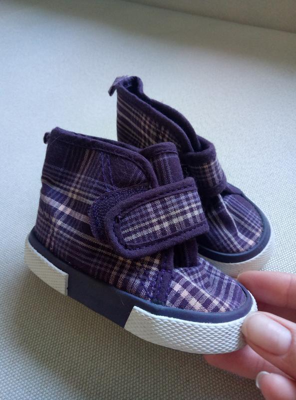 Ботинки на малышку ботиночки высокие на липучке