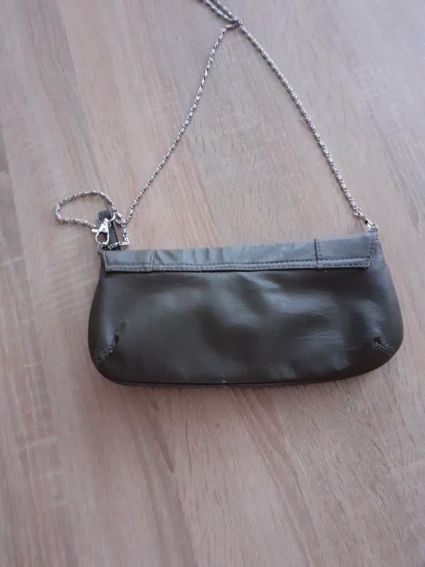 Сумка клатч с одним отделением и карманчиком  на цепочке - Фото 2
