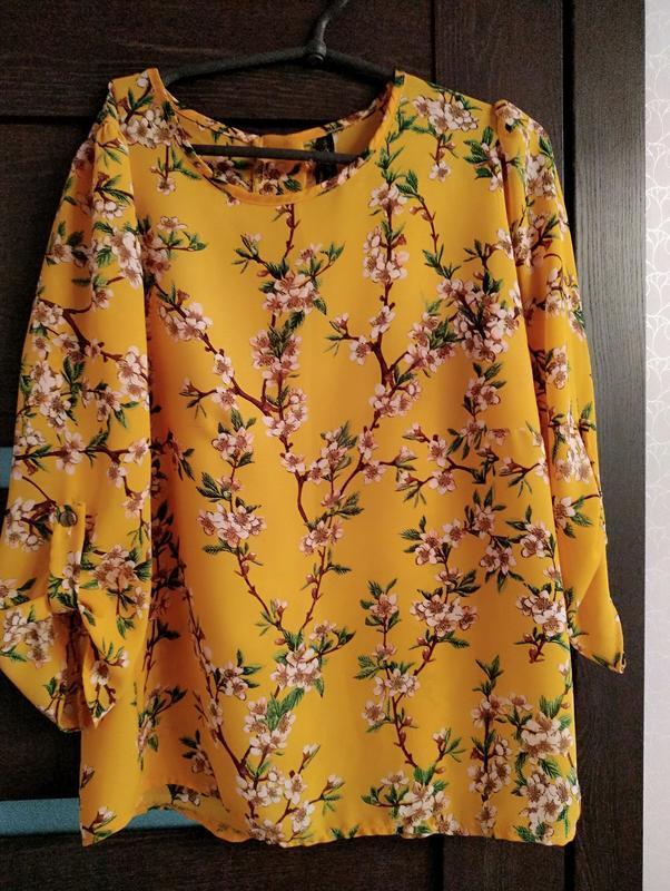 Блуза рубашка италия желтая яркая сочная