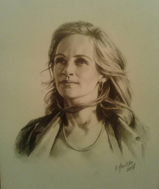Портрет олівцем/фарбами