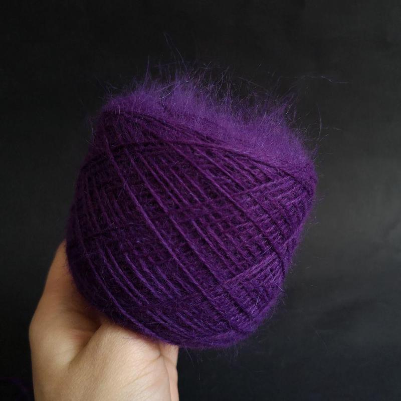 Пряжа Biagioli Modesto 80% ангора 20% ПА фиолетовый 850 м/100 - Фото 3