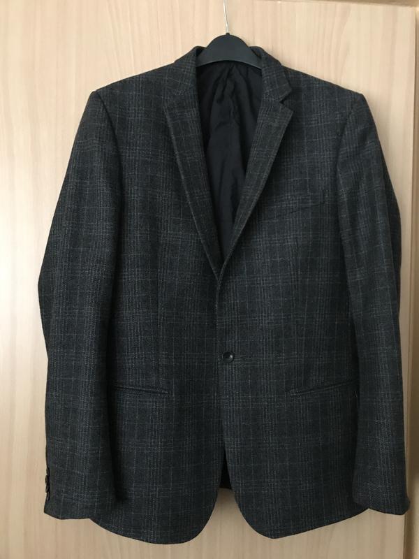 Жакет дизайнерский мужской шерстяной  стильный дорогой бренд f...