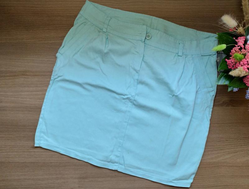Летняя юбка мятного цвета