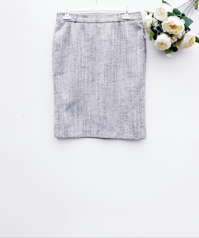 Красивая юбка миди юбка карандаш меланжевая практичная юбка