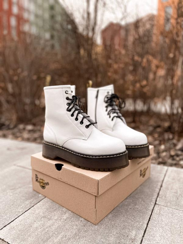 Dr. martens jadon white brown sole