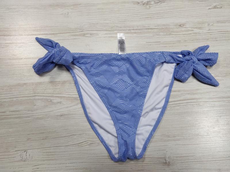 Ликвидация товара 🔥   голубые плавки с высокой талией на завязках - Фото 2