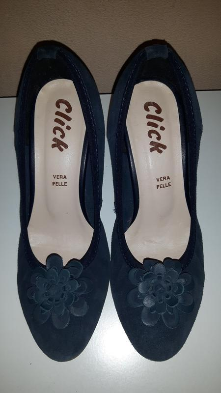 Изящные легкие туфли из натуральной замши click