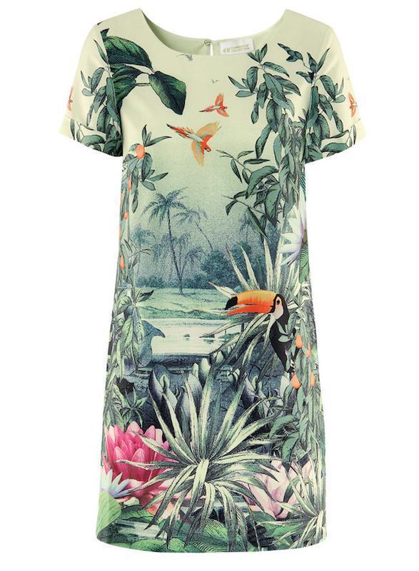 Яркое красивое платье h&m