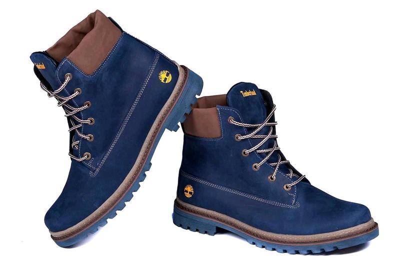Мужские зимние кожаные ботинки Timberland Crazy Shoes Laguna (реп