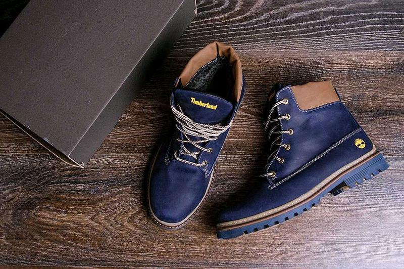 Мужские зимние кожаные ботинки Timberland Crazy Shoes Laguna (реп - Фото 2