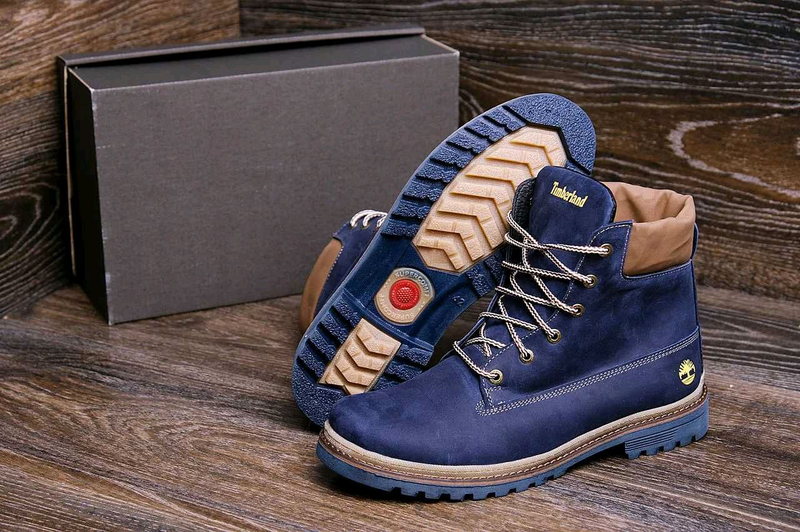 Мужские зимние кожаные ботинки Timberland Crazy Shoes Laguna (реп - Фото 4