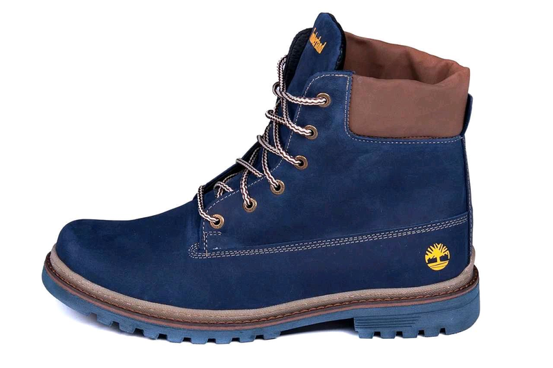 Мужские зимние кожаные ботинки Timberland Crazy Shoes Laguna (реп - Фото 9