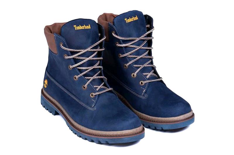 Мужские зимние кожаные ботинки Timberland Crazy Shoes Laguna (реп - Фото 10