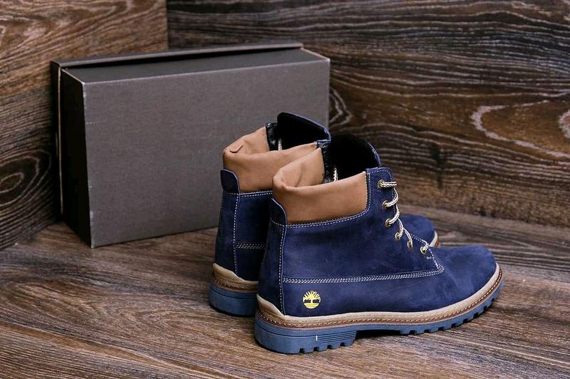 Мужские зимние кожаные ботинки Timberland Crazy Shoes Laguna (реп - Фото 5