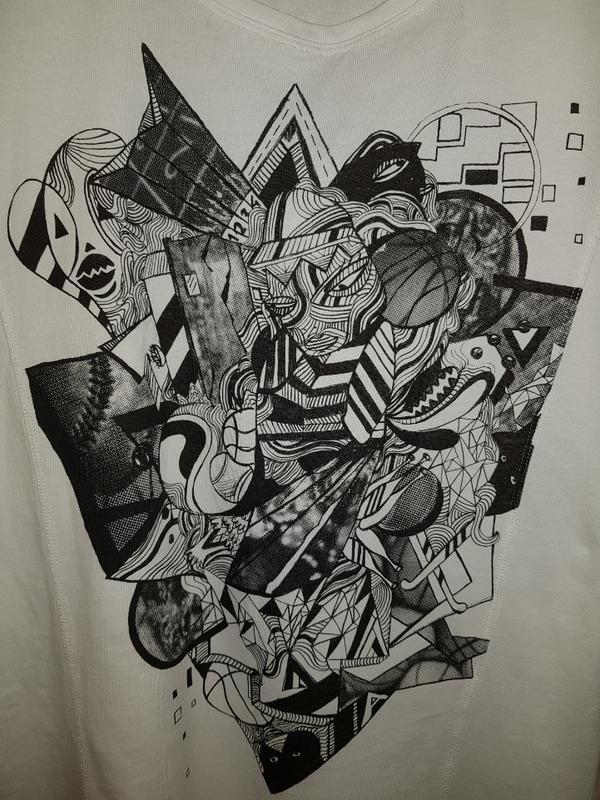 Белая футболка adidas, оригинальный фасон - Фото 5