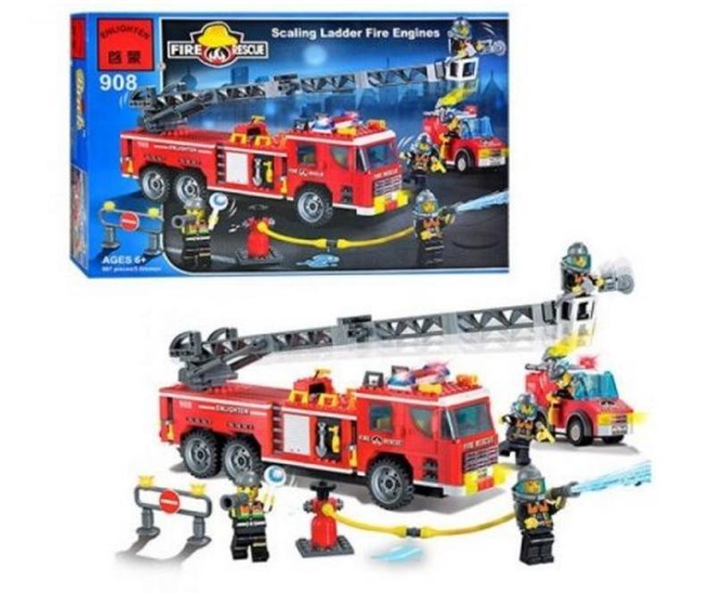 Конструктор Brick 908 Пожарная охрана - Фото 2