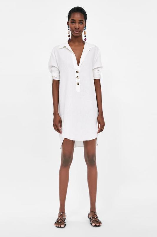 Стильное платье рубашка  туника лён 🔥🔥🔥 zara