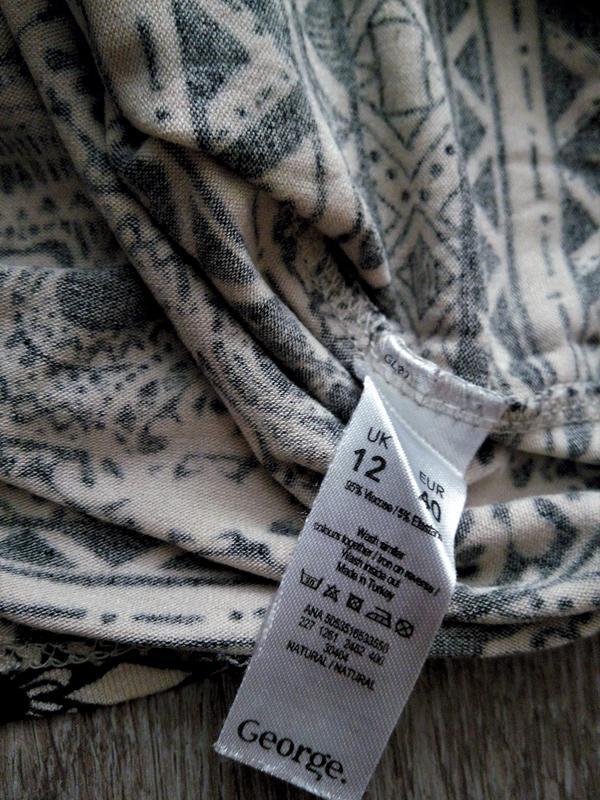 Лёгкое натуральное платье-туника ,принт черепа от george - Фото 4