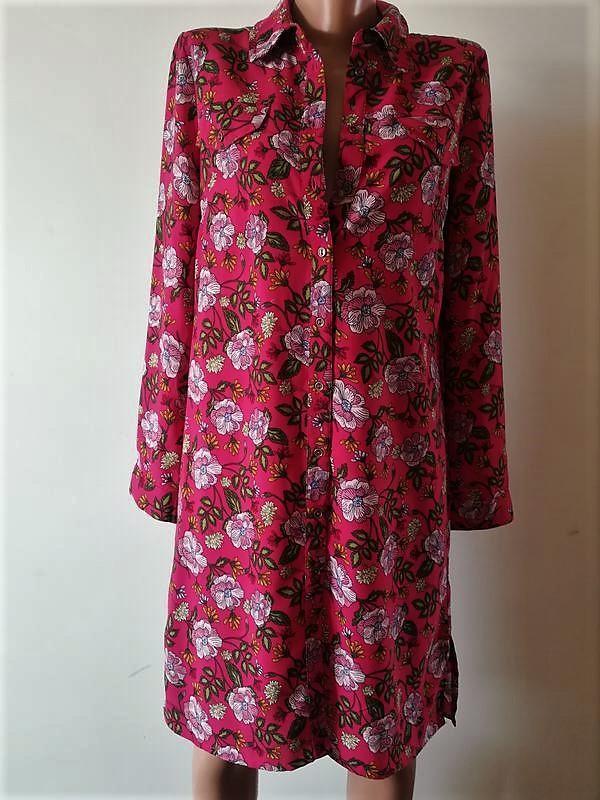 Актуальное🌺яркое стильное платье-рубашка в цветочный принт ❤️