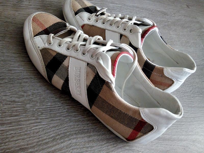 Оригинал,брендовые кожаные кеды- кроссовки burberry😱😍