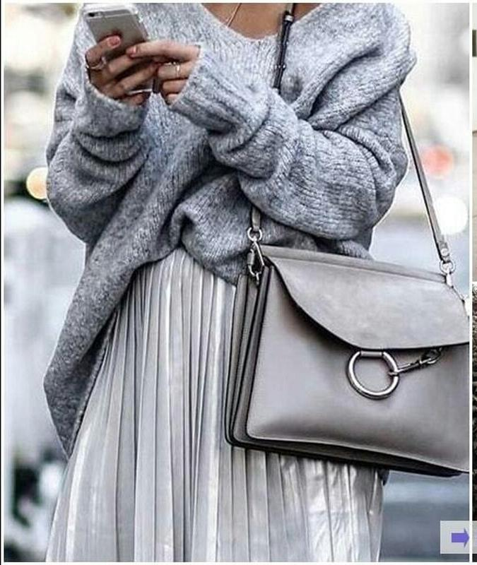 Металлизированная юбка плиссе серебро