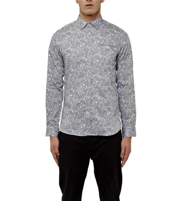 Стильная мужская коттоновая рубашка люксового британского брэн...