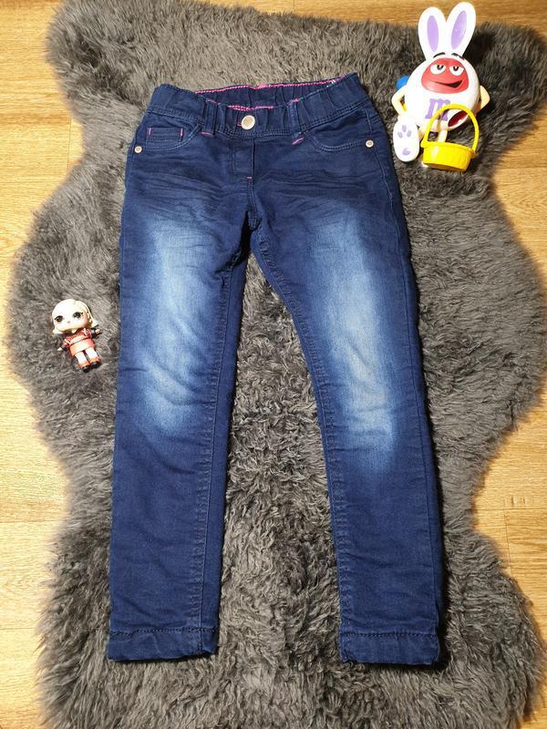 Утепленные джинсы на 4-5 лет