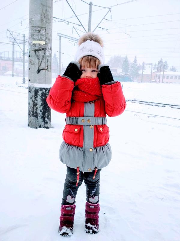 Зимняя куртка, пуховик для девочки!