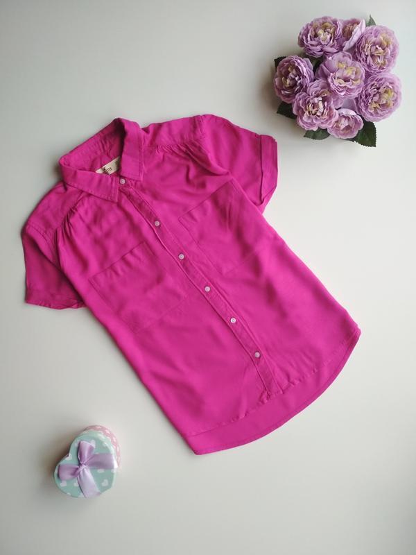 Рубашка бойфренд с коротким рукавом от hollister