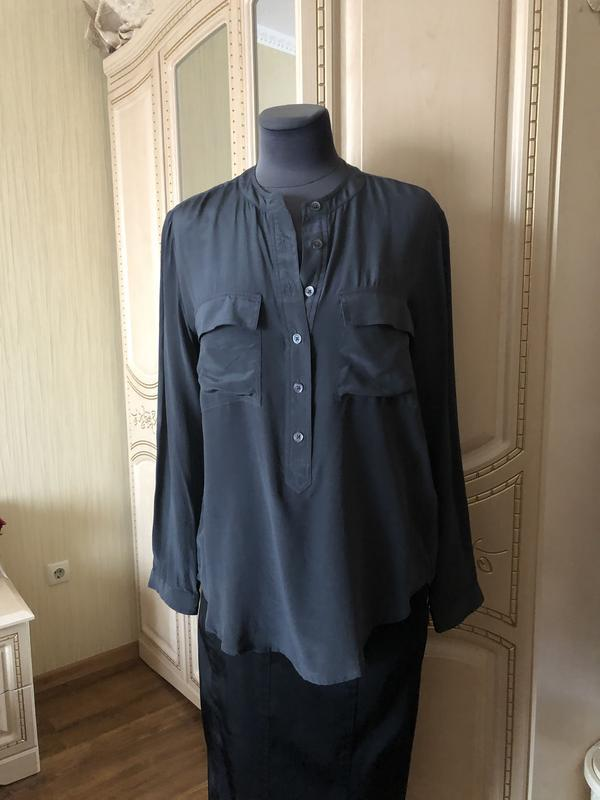 Стильная базовая шелковая блузка, блуза натуральный шёлк, шелк...