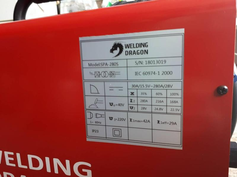 Сварочный полуавтомат Welding Dragon MIG 280S