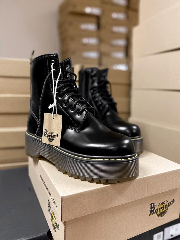 Ботинки dr. martens high fur