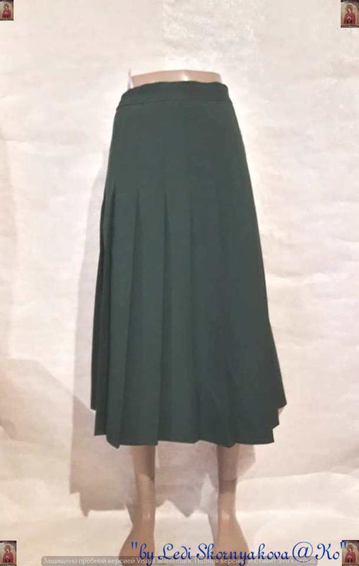 """Новая шикарная юбка миди плиссе в тёмно зелёном цвете """"бутылка..."""
