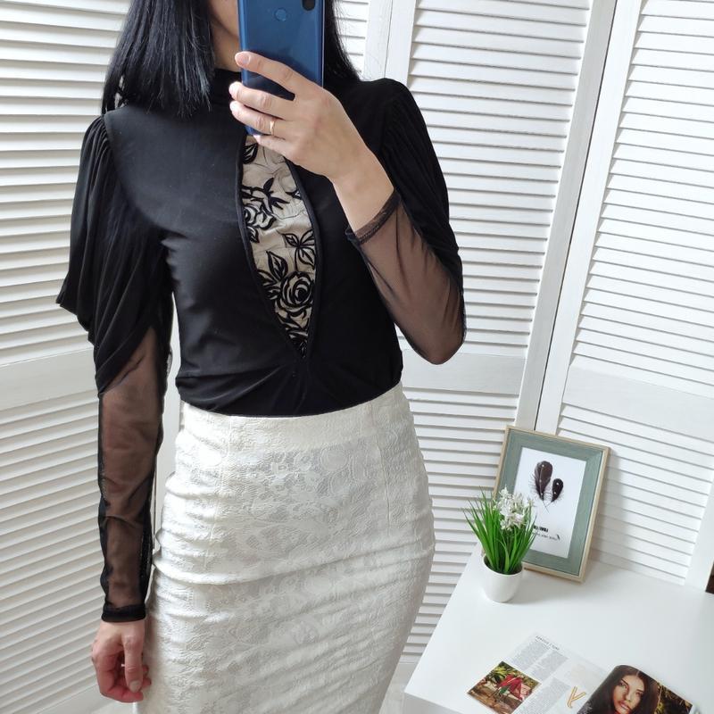 Блузка с объемными рукавами, р-р м
