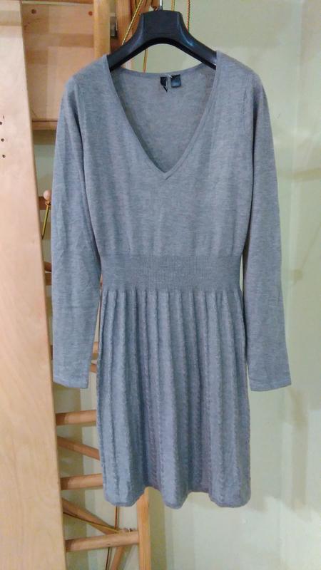 Платье с длинными рукавами - трикотаж машинной вязки m-l