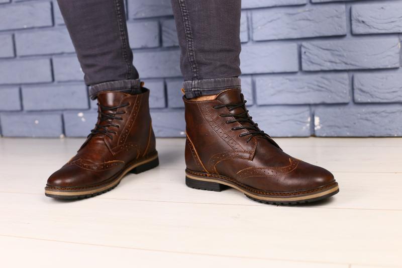 Lux обувь!😍зимние натуральные мужские ботинки оксворд  40-45р - Фото 5