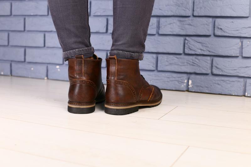 Lux обувь!😍зимние натуральные мужские ботинки оксворд  40-45р - Фото 6