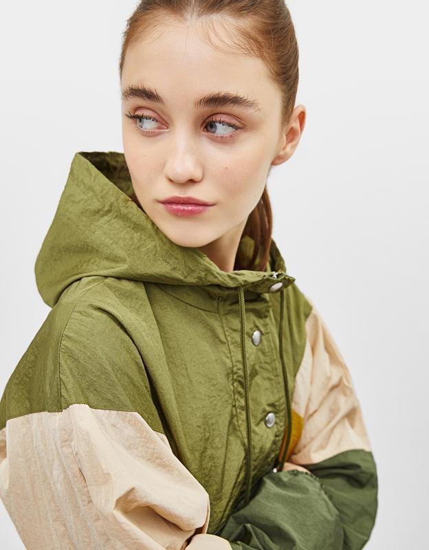 ❄распродажа!❄  стильная куртка-ветровка, анорак с капюшоном от...