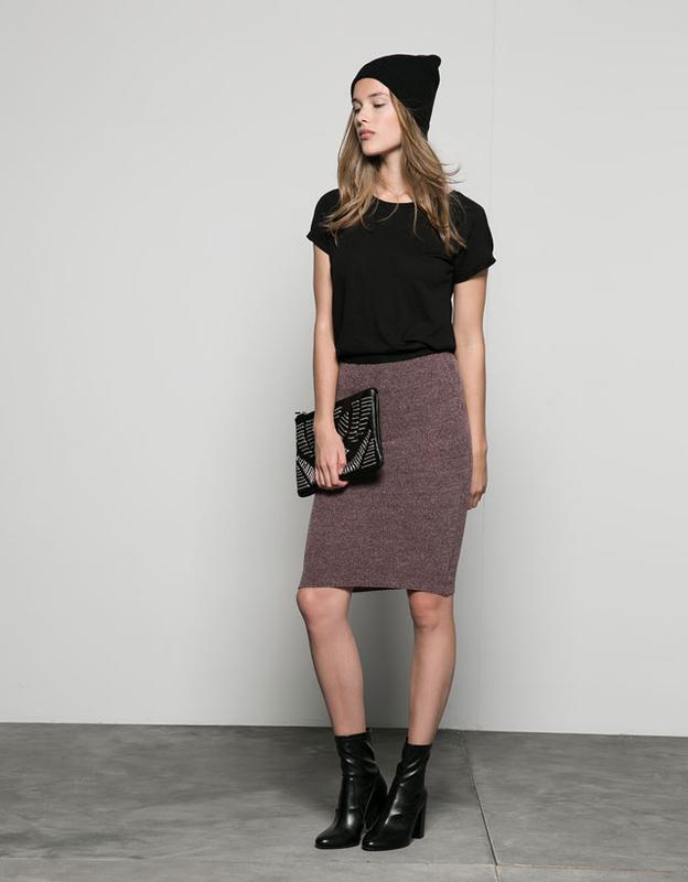 ❄распродажа!❄  мягкая юбка-карандаш от bershka размер xs