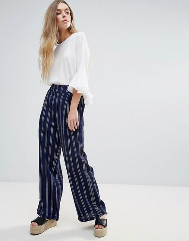 ❄распродажа!❄ уценка! шикарные свободные брюки в полоску от br...