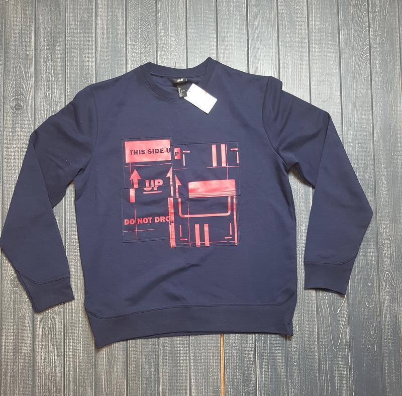 🎄зимняя ликвидация ❗  темно-синий свитер, свитшот от h&m размер l
