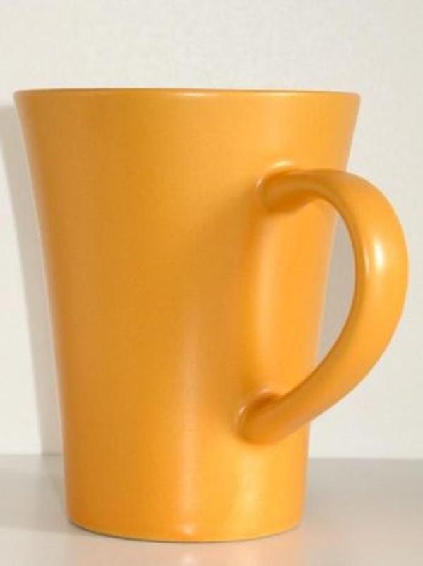 Чайная керамическая чашка 300 мл. кофейная кружка посуда керамика - Фото 3