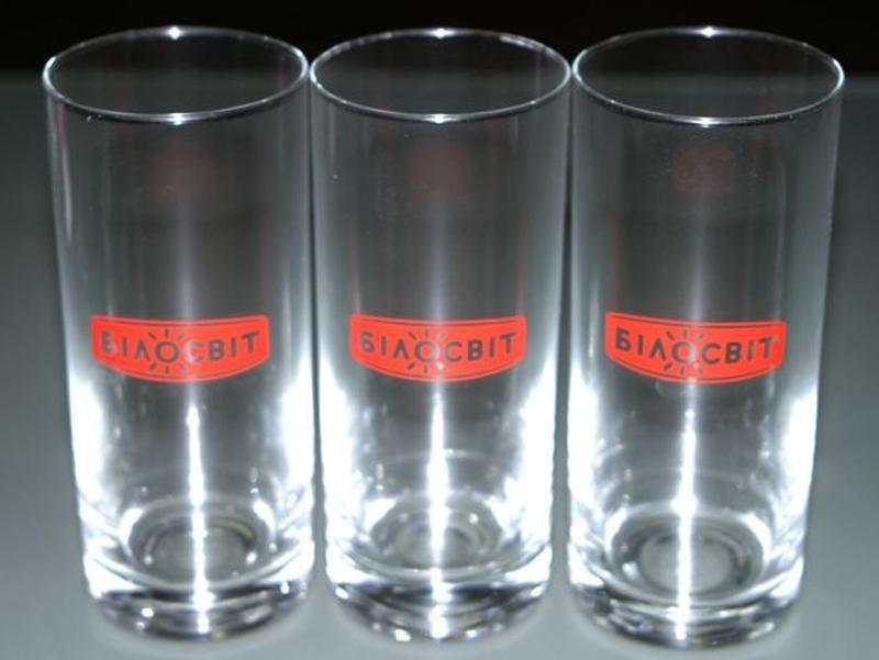 Стаканы стеклянные высокие Білосвіт набор стаканов бокал стака...