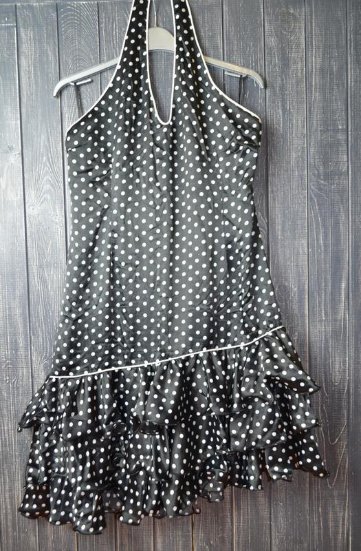 Платье в горох в стиле pin up, стиляги rock&religion размер 14uk